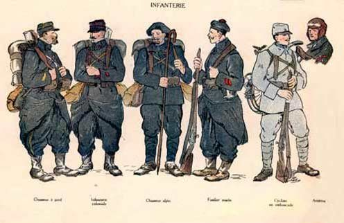 Uniformes français d'infanterie. Collection François Hanscotte