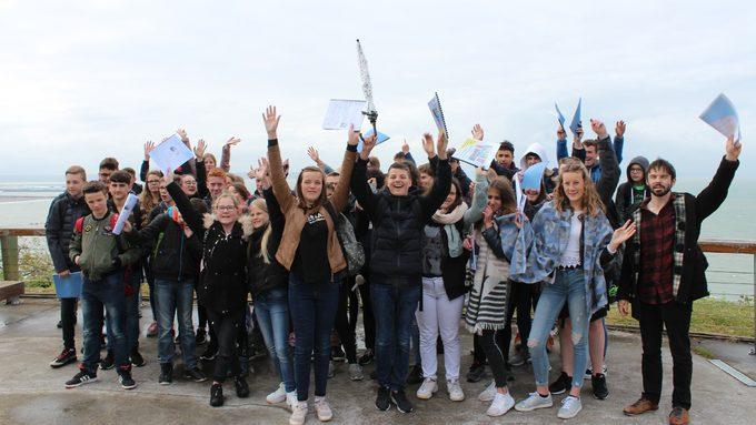Les élèves ont pu admirer la Baie de Seine depuis le Balcon de l'Estuaire.